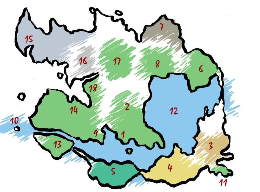 Sleepy Racoon World Map